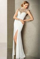 2014 New Style Elegant Sexy Floor Length Sophisticated Crystal Chiffon Evening Dress Formal Dress