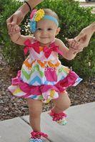 Neon Rainbow Chevron Swing Dress and Bloomers,Pink and Gray Chevron Swing Dress with Bloomer,Baby Girls Cloth Set