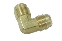 "Pack of 80 New Brass Fittings 5/8"" OD 45 Degree Flare 90 Degree Union Elbow"