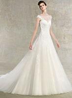 2014 New Fashion Style Sweetheart Sleeveless Tulle Wedding Dress Custom Bridal Gown