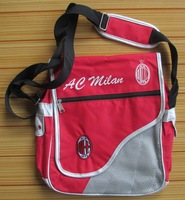 AC MILAN FC SOCCER SHOULDER BAG MESSENGER BAG SCHOOLBAG SATCHEL HANDBAG #1 red