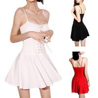 2014 Sexy Women Sleeveless Summer Casual Party Evening Short Mini Dress S5Q