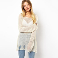 Fashion casual thin 2014 sweep women's worn sweater pullover