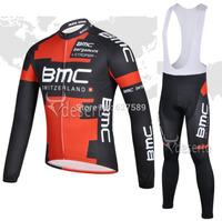 bmc 2014 Cycling Jersey bib kit long Sleeve bib pants Cycling thight ropa Ciclismo bicycle fitness clothes bicicleta maillot