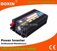 12v 220v modified sine wave 1500w inverter charger with ups