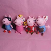 2014 Hot TOP SALE New 1PCS 19cm Cartoon Dolls Flower Fairy Peppa Pig Or George pig Or Mud Peppa Or Mud George Pig Plush Toy