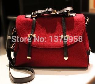 Double arrow handbags minimalist retro corduroy messenger bag shoulder bag women's handbag Messenger bag M - 346(China (Mainland))
