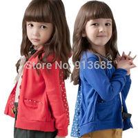 Kids Baby Girl Coat Polka Dot Outwear Bnowknot Jacket Long Sleeve Coat Outer