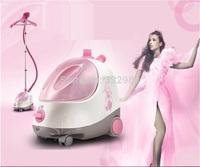 Pink , beautiful,1.8L,1500W hanging garment steamer household steam iron,multifunction steam iron,mini ironportable steamer