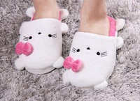 Free Shipping Green Frog And Hello Kitty Cotton Home Slippers Ladies Soft Slipper Animals Slippers Women Winter Retail YXQ-S08