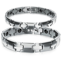 Free Shipping HOT Sale Fashion jewelry 316L Stainless Steel Lovely romantic couple bracelets Women/Men health Bracelet