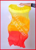 Hot sell! Free shipping 30pcs/lot belly dance fan,silk dance fan veils flame colors