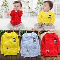 Cute Baby Girls Boys Kids Cardigan Pocket Jacket Coat Outwear Autumn Clothing