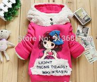 Baby Dolly Girl Plush Fleece Hoodie Kids Christmas Sweatshirt Tops Coat Outwears