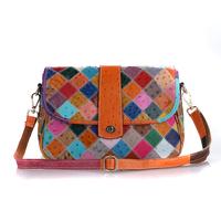 Female Genuine Leather Women Bags 2014 Hot Women Messenger Bag Vintage Handbag Shoulder Bag colorful Free shipping M116