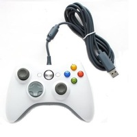 White USB Wired Game Controller Gamepad Joypad 360 Slim Accessory PC Computer For Windows For Xbox