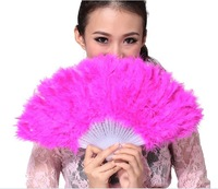 Free shipping peacock feather fan for dance or as wedding favor & home decorations