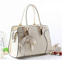 Fashion Bow painted leather female handbag Messenger bags Vintage shoulder bags women Crossbody bags ladyTotes free shipping