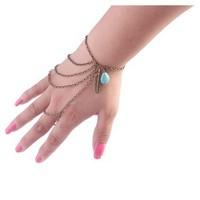 European United State Accessorise simple fashion vintage Leaves Bracelets Turquoise multilayer  tassel  Bracelet Bangle women