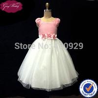 Goingwedding Satin Top With Sash Tulle Skirt A-line Little Queen Flower Girl Dress HT012