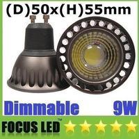Wholesale - CREE COB 9W Dimmable GU10 E27 E26 Led Bulbs Light 60 Angle Warm/Natural/Cool White Led Ceiling Spot Lights 110-240V/