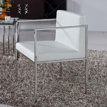 Ting yu xuan meubles moderne minimaliste en acier - Fauteuil avec accoudoirs salle a manger ...