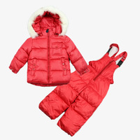 Children's winter clothing set baby boys Girl's Ski suit sport sets Outdoor clothing sets windproof warm coats Jackets+ trousers