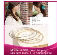 B387 Big earrings circle carving Decorative pattern Women jewelry bijoux