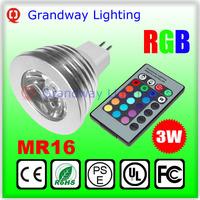 RGB MR16 GU10 GU5.3 E27 LED Bulb Light Lamp 12V 110V 220V 16 Color Change Remote Control HOUSE led LIGHT studio LAMP 3w LED RGB