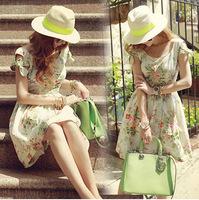 2014 summer new Korean wood ear sleeveless strapless dress Slim waist dresses women clothing