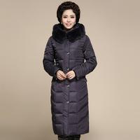 2014 Hot Winter Thicken Warm Woman Down jacket Hooded Coats Outerwear Parka Long Luxury Rabbit Fur collar Plus Size 5XXXXXL Slim