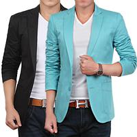 Free shipping new fashion casual slim cotton male plus size 4xl suit terno men blazer masculino S-4XL