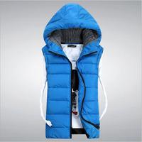 CD-55 new 2014 Autumn winter Fashion Down jacket Casual vests Sleeveless jacket Mens vest Waistcoat men Clothing Male vest