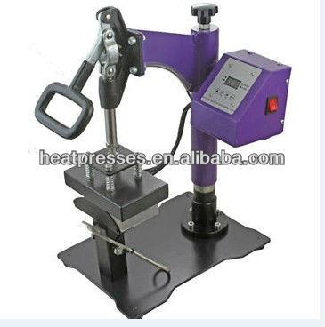 cap press hat heat transfer machine manual cap press machine caps heat transfer press capping machine NO.CP815B(China (Mainland))