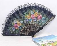 Hot-sell! Free shipping 150pcs/lot wedding gift fan,lace decoration fan,lady fan