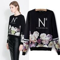 2014 Spring O-neck Fitness T Shirt Women Casual Long Sleeve Body Tees Fashion Ladies Printed Autumn Blusas Femininas 8178