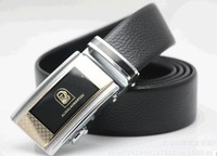 The first layer of leather belt wholesale The first layer leather belt Men's automatic buckle belt