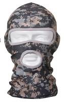 Tactical Multifunctional polyester Balaclava Scarf Camo Paintball Walking Summer Full Face Neck Guard CS Masks Riding Hiking