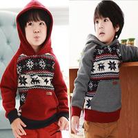 Autumn Winter Children's Hoodies & Sweatshirts Child Boy Girl Christmas Fawn Hoody Mirco Velvet Thicken Warm KIds Coat WD68