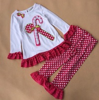Free shipping children clothing girls princess Christmas dress long sleeves TUTU dress white + leggings rare editions Q