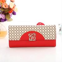 Free Shipping 2014 New Arrival Luxury Brand Women PU Leather Wallets Brand Long Women's Wallet  Female Purse Handbag  C049