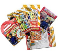 2014 sam toy DIY  Children sticker color painting graffiti  Fireman Sam COLOURING BOOK sticker for kids gift 5pc free shipping