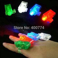 LED flash laser finger light beams party Light-up finger ring laser lights with opp bag  childrens toy gifts 4colors/bag