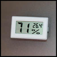 40pcs free shipping Digital hygrometer thermometer tester with batteries to  Russia