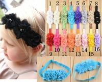 30pcs Baby Headband, Chiffon Flower Headband with Rhinestone free shipping U Pick Colors