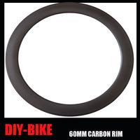 23mm Width 700c full carbon fiber 60mm CLINCHER single carbon rim 16H to32H holes carbon road bike rim