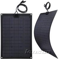 50W 12V Monocrystal Semi-flexible Solar Panel Fiberglass board, Wholesale,Factory Directly,UK STOCK!