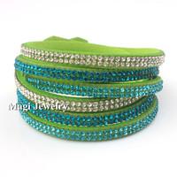 SWA ELEMENTS Crystal Stud Wrap Bracelet Women Twisted Velvet Glittering 40cm Length Fashion Magi Jewelry BFWS