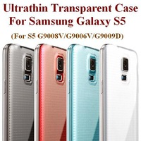 Ultrathin Case For Samsung Galaxy S5 I9600 Transparent TPU Case 0.6MM Thin Original Remax Brand Case Four Colors Free Shipping