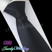 New 2014 Man Fashion Accessories Striped Polka Dot Jacquard Woven Classic Business Silk Tie Casual Necktie for Men Black